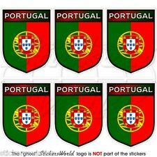 """PORTUGAL Portuguese Shield 40mm(1.6"""") Mobile Cell Phone Mini Stickers, Decals x6"""