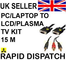 """PC portatile per Plasma LCD TV Connection Kit Cavo 15m 45 """""""