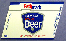 Hofbrau Brewing PATHMARK PREMIUM LAGER BEER label PA 12oz