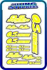 RC AIRCRAFT STICKERS HELI OS ENGINES CAR BUGGY O.S SPEED NITRO PIPE YELLOW W