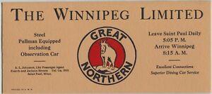 Early Great Northern Railroad Ink Blotter Forward Facing Goat Winnipeg Limited
