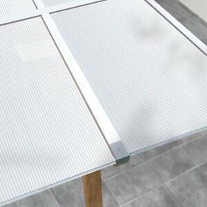 Stegplatten 4,5 mm Doppelstegplatten Polycarbonat Hohlkammerplatte Gewächshaus