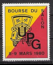 Schweiz Vignette UPG Bourse du Salon 8-9 Mars 1980 Auto Automobil **