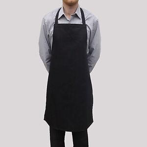 Wholesale Job Lot 10 Brand New Mens Womens Black Aprons Work Chef Cook