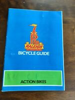 Raleigh Action Bikes Bicycle Guide BMX Rare Manual 1980s
