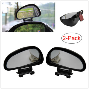 Wide Angle Car Parking Blind Spot Mirror Rotation Auxiliary Rear View Mirror Set