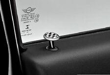 MINI Genuine 2x Interior Door Lock Locking Round Pin Checkered Flag 82292406338