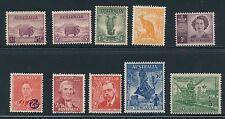 Australia *10 Mh Issues (1937-47)* As Shown Frt & Bk; Cv $50+