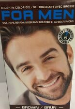 FOR MEN MUSTACHE BEARD BRUSH IN GEL HAIR COLORING KIT BROWN MENS HAIR DYE-SHIP24