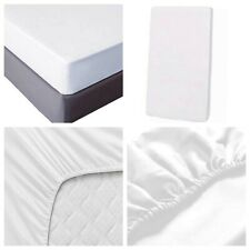 Fitted Sheet King Size 2 Piece 100% Cotton White T600 Thread Deep Pocket Soft