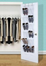 24 Pockets Over the Door Shoe Organizer Hanger Rack Hanging Storage Space Saver