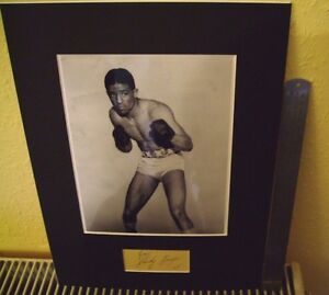 """RANDOLPH """"RANDY"""" TURPIN BOXING AUTHENTIC SIGNED AUTOGRAPH DISPLAY UACC COA"""
