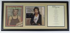 """BRUCE SPRINGSTEEN Signed Autograph """"Darkness on The Edge Of.."""" LP Display Framed"""