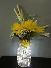 Lighted Mason Jar Centerpiece will add beauty to any room!