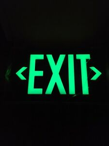 Jessup 7060-B Glo Brite Photoluminescent Single Sided Exit Sign