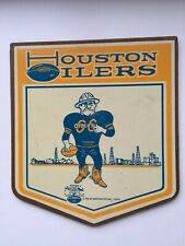 Houston Oilers Vintage Herald Plaque 1966 American Football League RARE