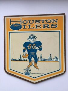 Houston Oilers Vintage Herald Plaque 1966 American Football League RARE