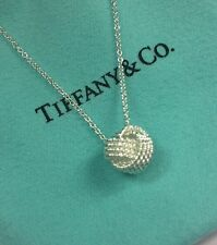 "Tiffany & Co Sterling Silver 925 Twist Knot Pendant on 16""inch Necklace"