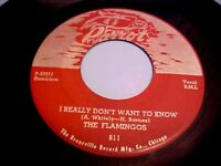 The Flamingos - I Really Don't Want To Know / Get With It (1973 RE)