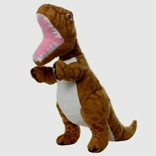 NEW Mighty Jr Brown Tyrannosaurus Rex Plush Dog Pet Toy