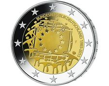 2 Euro Deutschland 2015 30 Jahre Europaflagge -  Europäische Flagge Mz. F