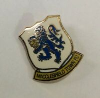 MACCLESFIELD TOWN Football Club Badge FC Enamel Supporters Non League Pin
