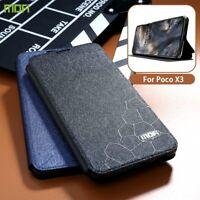 Flip Case Xiaomi Poco X3 NFC Cover Holder Silicone Flip Leather 360 NEW Black