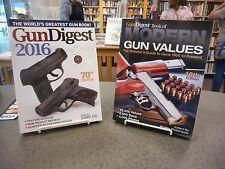 2 Book Lot; Gun Digest 2016 Modern Gun Values Shooter's Guide Illustrated