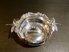 Coupelle, vide poche en métal argenté au libellules SMF