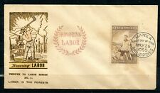 Philippines, 1955, Scott # 620, First Day Cover, Labor in the Forests