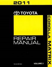 2011 Toyota Corolla Matrix Shop Service Repair Manual Volume 2 Only
