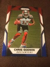 2017 PANINI PRIZM FOOTBALL - CHRIS GODWIN RED WHITE & BLUE PRIZM ROOKIE RC #243