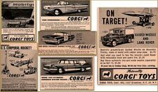 6 1950'S Corgi Police Impala Plymouth Mobil Land Rover Missile Radar Print Ads