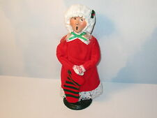 Byers Choice Retired 1986 Blonde Pajama Girl with Red & Green Striped Stocking
