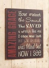 New Rustic AMAZING GRACE Dove Word Wood Sign Wall Plaque Picture