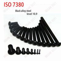 M2 / M2.5 - Black 10.9 Alloy Steel - Hex Socket BUTTON HEAD Screws - ISO7380
