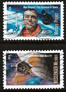 Scott #4527-28 Used Set of 2, Space Firsts (Off Paper)