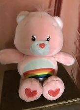 Care Bears CHEER Care-A-Lot Friends Talking LIGHT UP Plush Toy Animal 2002 VTG