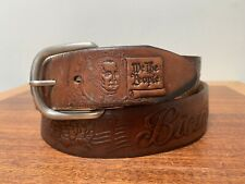 Amazing Hand Tooled Leather Usa Constitution Bicentennial 1987 Belt sz 36-38