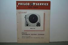 PHILCO RADIO-PHONOGRAPH SERVICE MANUAL MODEL M-8  (19 PAGES)