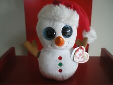 Ty Beanie Boos SCOOP snowman 6 inch NWMT.  NEW CHRISTMAS BOOS - IN HAND NOW.