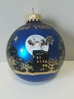 Vtg KREBS NYC Christmas with Santa Scene Tree Ornament, Tavern On The Green Box
