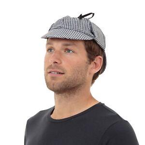 Sherlock Holmes Detective Deerstalker Hat Fancy Dress Party Accessory