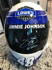 Jimmie Johnson signed Lowe's full size helmet PSA/DNA #se7en inscription NASCAR