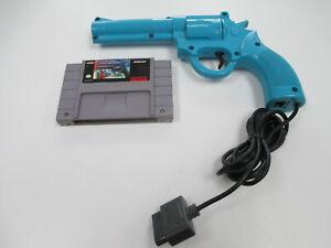 """Lethal Enforcer Super Nintendo SNES Game + Konami """"Justifier"""" Light Gun"""