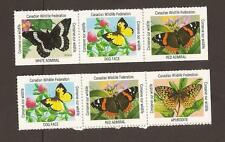 Canada Wildlife Federation cinderella - label stamps. (MNH) Butterflies