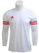 adidas Mens T Shirt Short Sleeve Top Entrada 14 Football Gym Sports Jersey S-2xl White 2xl