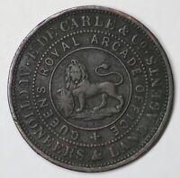 AUSTRALIA - 1855 E DE CARLE - AUCTIONEERS & LAND AGENTS MELBOURNE TOKEN (KH16)