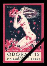 Vinatge French Perfume Card Antique Original J Giraud Fils Odorantis
