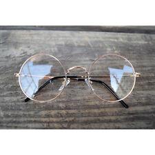 1920s Vintage oliver retro eyeglasses 84R96 Gold Round kpop peoples frames